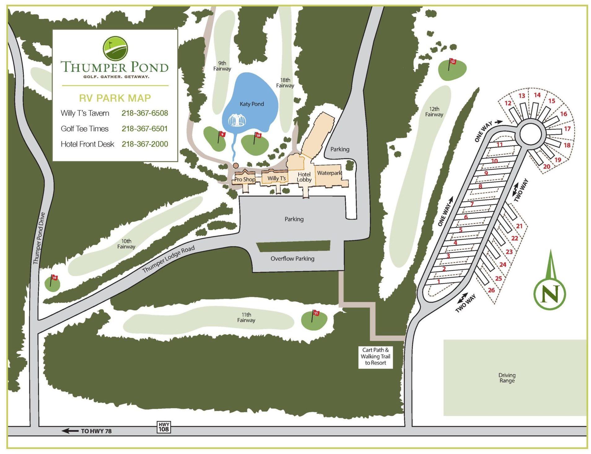 Thumper Pond RV Park map