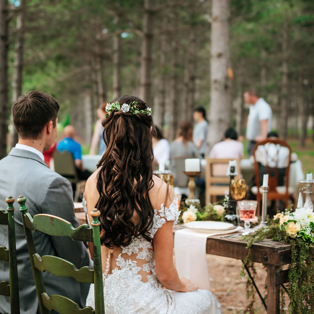 wedding in the woods at thumper pond