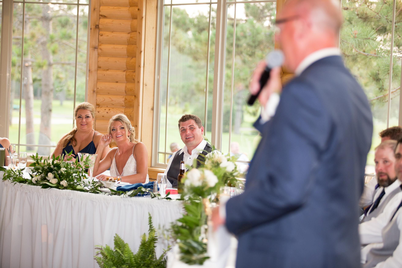 wedding speeches at Thumper Pond